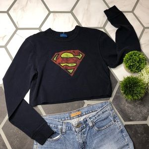 e7306c72 Cropped Superman thermal long sleeve
